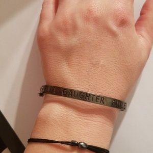 Daughter vintage silver carolee  bracelet